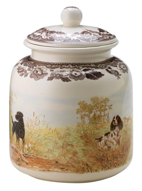 Spode Woodland Hunting Dogs Collection Dog Treat Canister $88.20